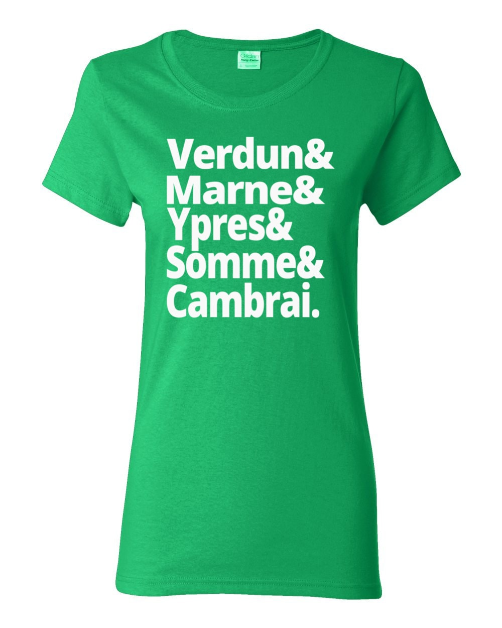 Battles of the First World War - Verdun, Marne, Ypres, Somme, Cambrai - Women's WWI History T-shirt