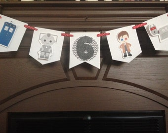 Dr Who Birthday Party Mini Banner