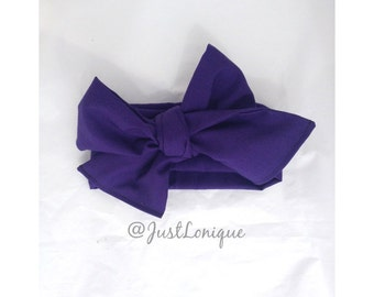 Dark Purple Head Wrap