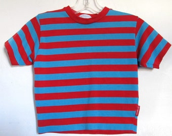 A Boy's,Vintage Short Sleeve Striped Top By OSHKOSH B'Gosh.S