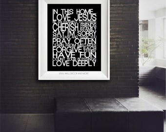 House Rules Digital Download- Inspirational Print