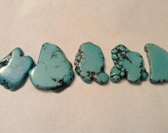 Chalk turquoise pendants