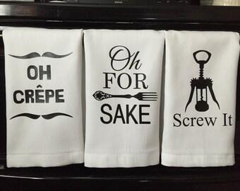 Dish towels, kitchen towels, huck towels, housewarming