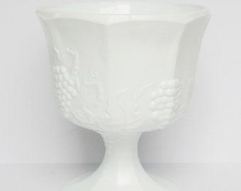 Indiana Milk Glass - White - Milk Glass - Compote