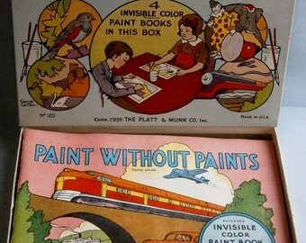 Paint Without Paints Books by The Platt & Munk Co.