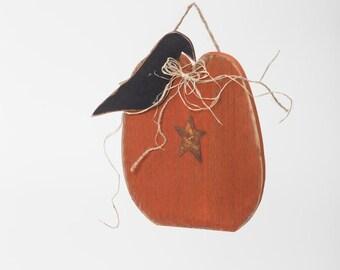 Fall Decoration- Primitive Hanging Fall Pumpkin- Model # -OHL-FALL18 - Free Shipping