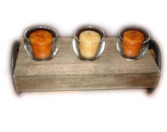 Horseshoe Candle Holder - 3 Candles