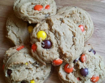 12 Peanut Butter Reese's Pieces Cookies