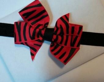 SALE! Red Zebra Headband