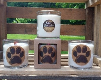 Odor Eliminator scented candle - jar candle - soy candle