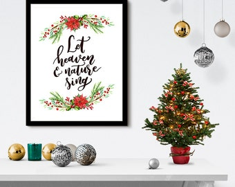 Let Heaven & Nature Sing Christmas 8x10 inch Poster Print - P1140