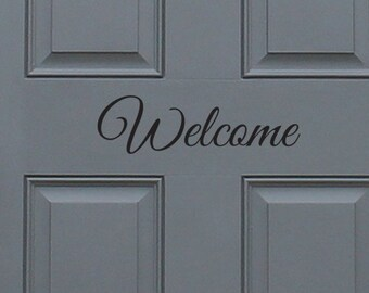 Welcome Vinyl Decal, home decor, great gift idea
