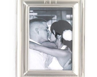 Engraved Sterling Silver Picture Frame
