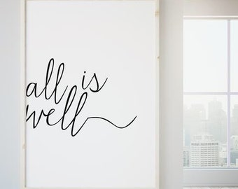 Typography Print, Black and White Art, Spiritual Print, Home Decor Print, Bedroom Art, Dorm Room Decor, Motivational Print Large