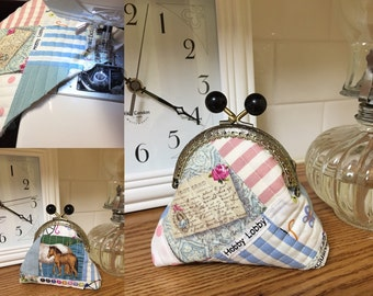 Quilted Fabric Coin Purse