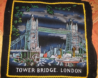 Vintage Tower Bridge London Souvenir Cushion Pillow Cover