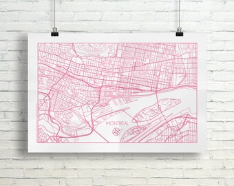 Montreal, Quebec City Map Poster