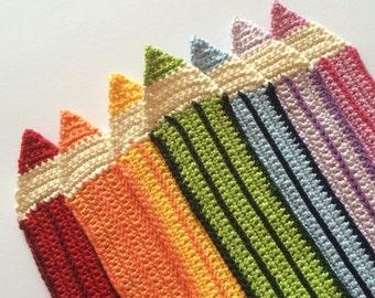 Crochet Pencil Bookmarks - Great teacher gift!!