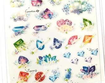 Colourful minerals transparent sticker (SS0011)