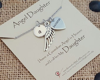 Angel Daughter, Loss of Daughter, Memorial Necklace, Memorial Gift, Remembrance Jewelry, Sympathy Jewelry, Loss of Daughter