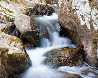 River, Waterfall, Nature, Photography, Print, 8x10, 11x14, 20x24, Rocks, Water, Maryland, Patapsco, Park, Flowing, Close up, landscape
