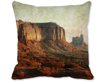 Outdoors Decor - Photo Pillow - Southwest Pillow - Nature Decor - Southwest Decor - Monument Valley Throw Pillow