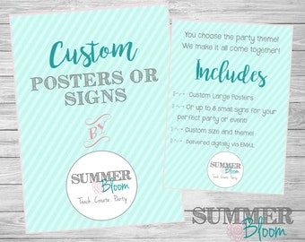 Custom Party Posters or Signs