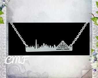 San Francisco Necklace San Francisco Cityscape Necklace 925 Sterling Silver Necklace San Francisco Pendant Cityscape Necklace