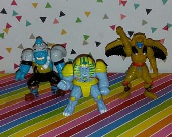 Vintage lot of 3 Bandai Power Rangers Evil Space Aliens Figures