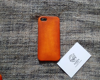 iPhone SE, 5, 5s leather case 'Old Tan'