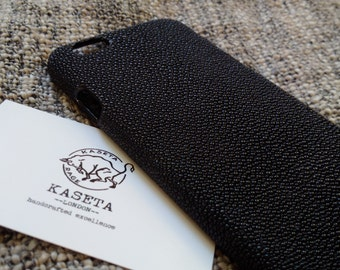 Stingray leather iPhone 6 6s case 'Black'