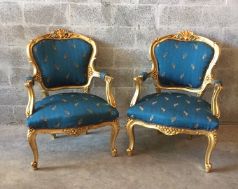 Items Similar To Sold Rococo Chair Red Damask Antique Italian Gold Leaf Refinished Reupholster