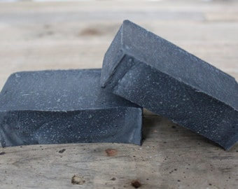 Organic Activated Charcoal   Peppermint Soap