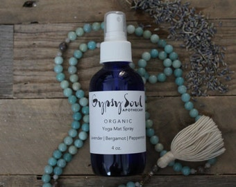 Organic Yoga Mat Spray - Lavender | Bergamot | Peppermint