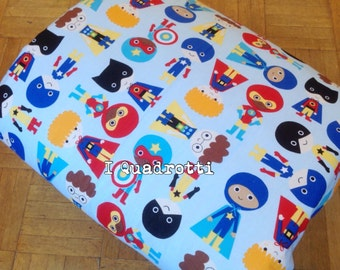 Heavenly quilt with superheroes, Captain america, superman
