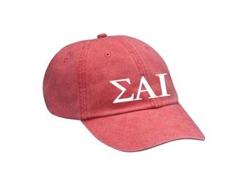 SAI Sigma Alpha Iota Letters Hat // Choose Your Colors // Sorority Hat