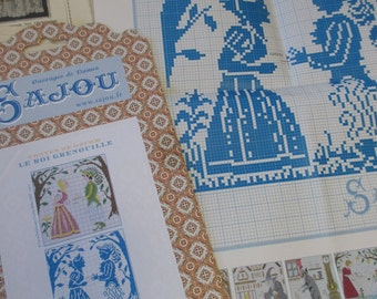 Sajou Grimm's Fairy Tales Embroidery Chart- The Twelve Brothers