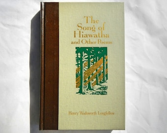 The Song of Hiawatha and Other Poems by Henry Wadsworth Longfellow Vintage Hardcover Book