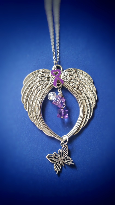 alzheimers lupus crohns colitis purple ribbon awareness