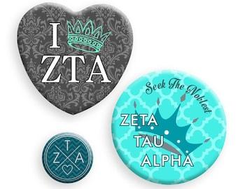 Zeta Tau Alpha Button Set