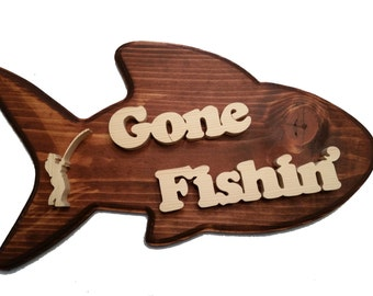 Gone Fishin' Plaque