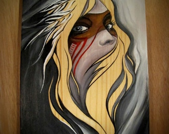Small format painting on wood