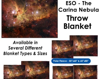 ESO - The Carina Nebula Throw Blanket / Tapestry Wall Hanging