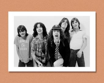 AC/DC - London, 1979 - (Angus Young, Bon Scott) - Giclée/Photo print