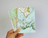 Set of A2 world map envelopes, wedding invitation envelopes, greeting card envelopes. SIZE 4,3 x 6,5 inch.