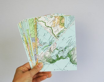 Set of A2 world map envelopes, wedding invitation envelopes, greeting card envelopes. SIZE 4,3 x 6,5 inch.