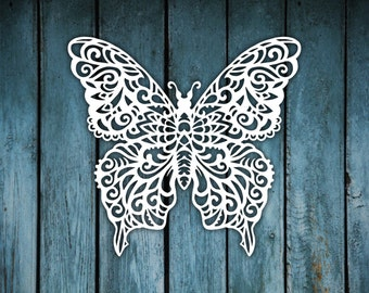 Printable Butterfly Papercut template  - PERSONAL USE