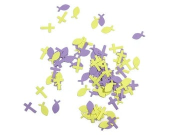 Cross and Fish Paper Confetti You Choose the Colors