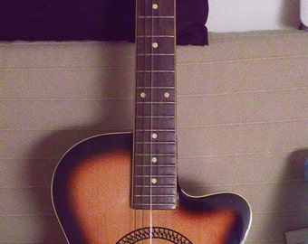 Meazzi acoustic guitar Made in Italy w/ label Milano 1964 luthier guitar signed abete ed acero excellent