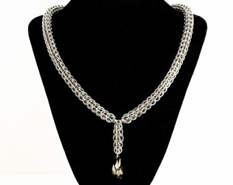 Persian Necklace with Charoal Swarovski Crystal